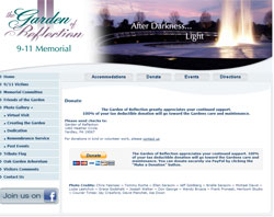 Donate to the Vic Saracini Garden of Reflection 9-11 Memorial