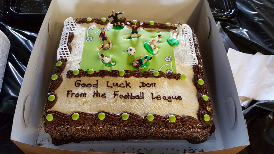 We had a special surprise cake for Don our acting principal,on his retirement as coach of the football league.
