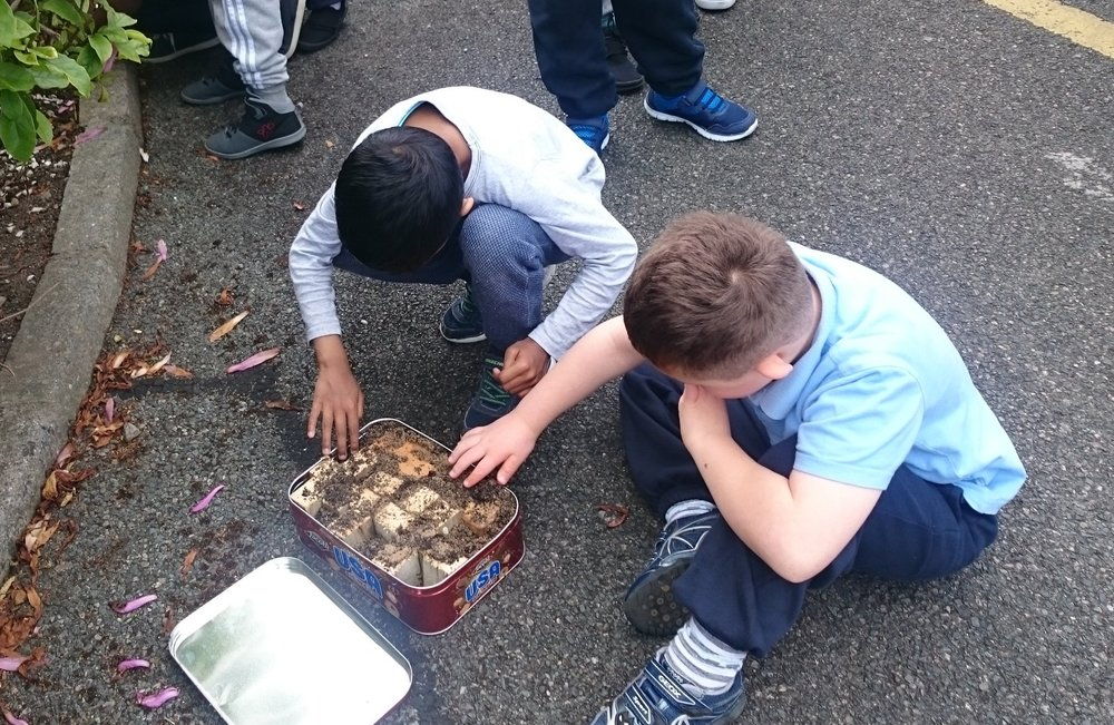 We were making an Insect Hotel!