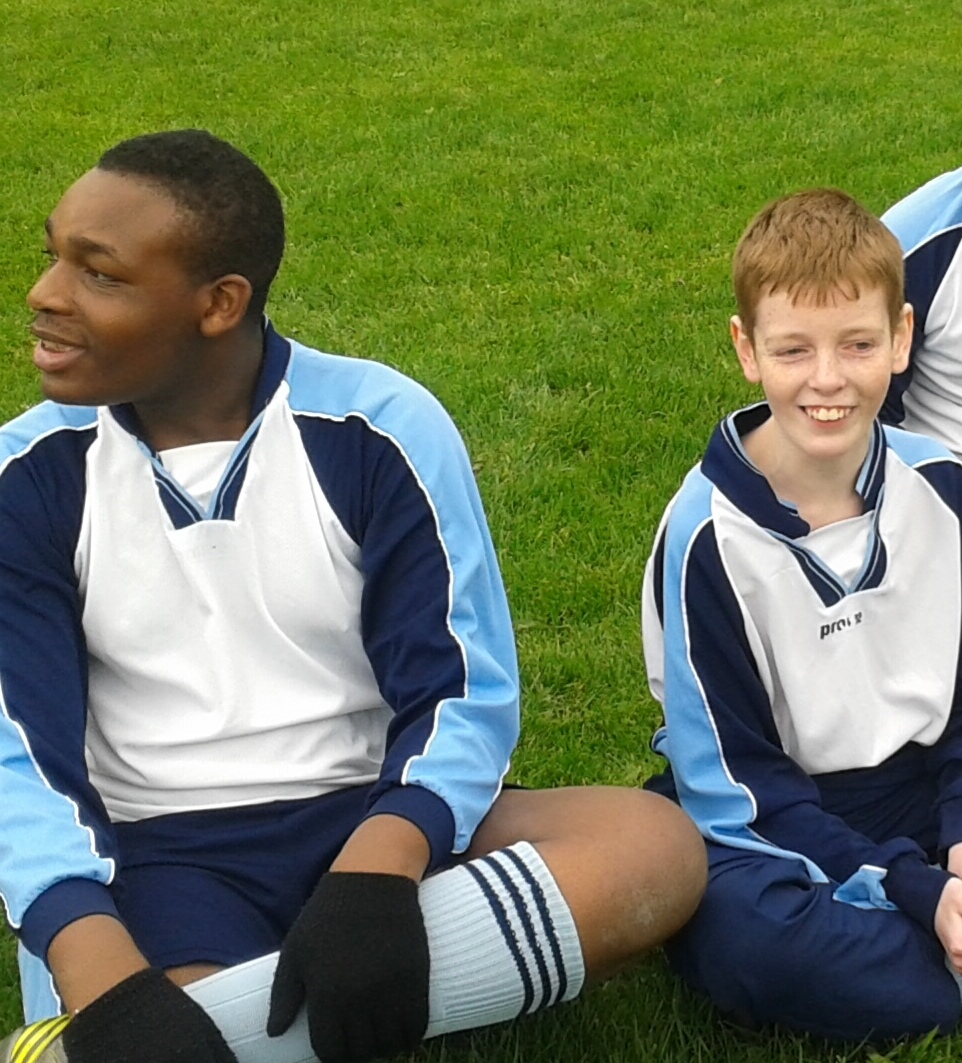 Footballers relaxing before a big game!
