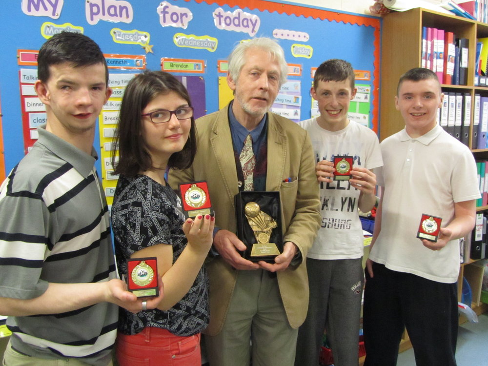 Don and some of the 2017 School Leavers received awards and recognition for their contribution to the St. John of God School Football Team over the years. Many thanks for the wonderful goals and fun!!!