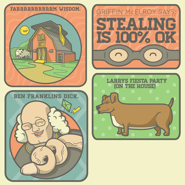 Farm Wisdom. Ben Franklin's Dick. Others.