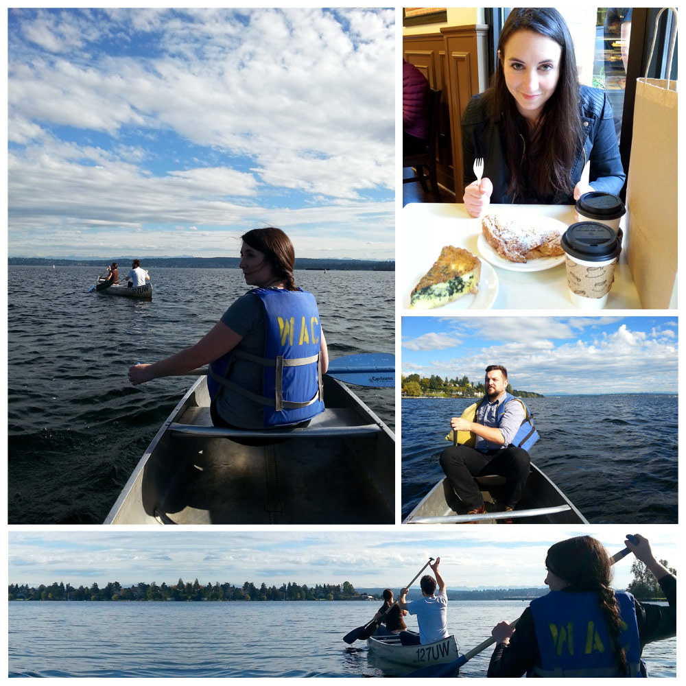 Canoeing Lake Washington.