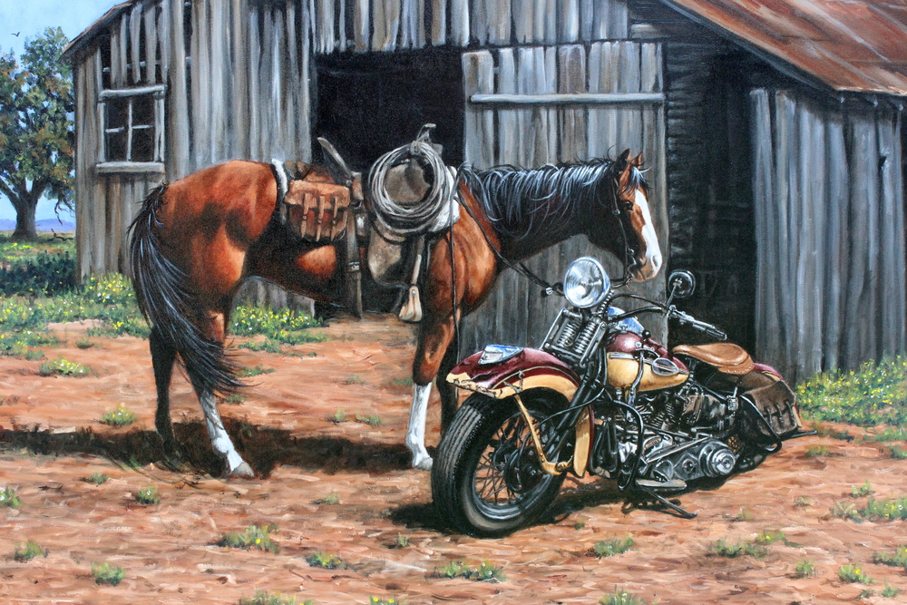 """""""...On a Steel Horse"""""""
