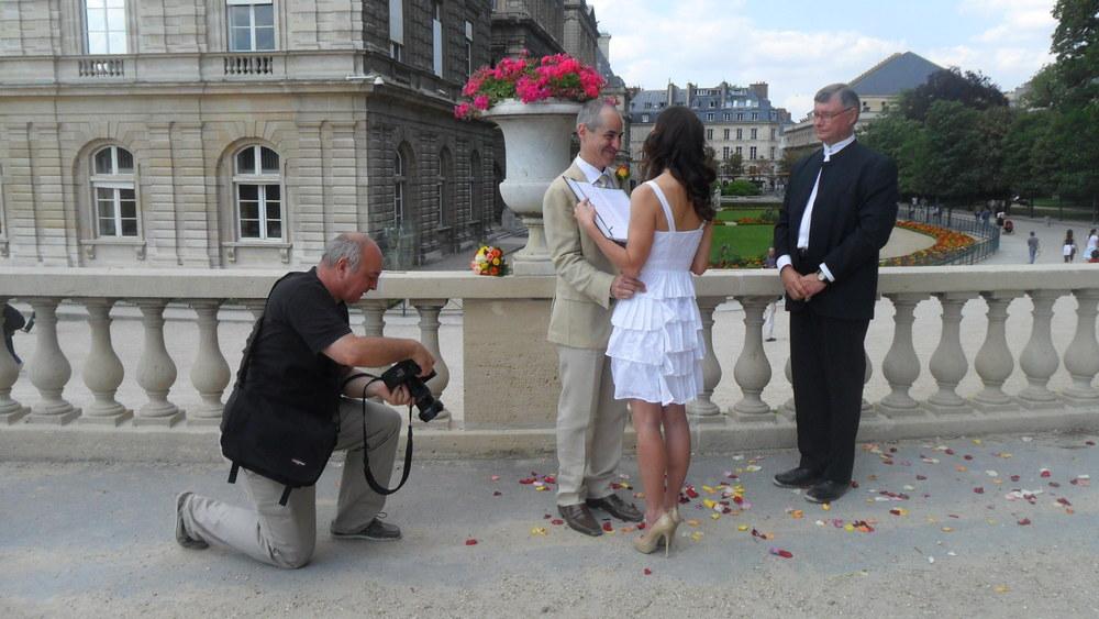 Luxembourg Gardens elopement