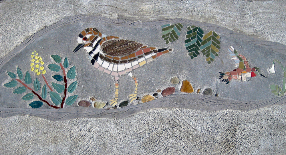 Killdeer, oregon grape mosaic