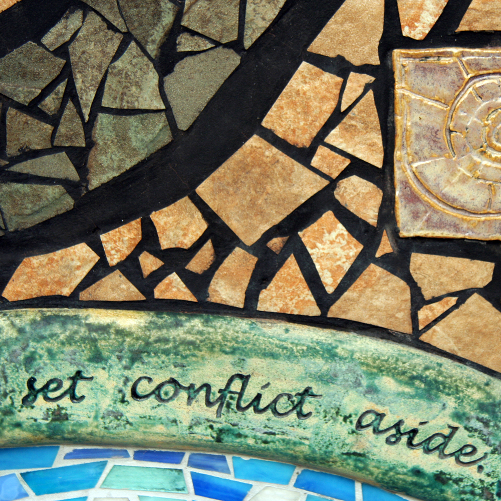 Salem Peace Mosaic by Lynn Takata with poem by Paulann Petersen