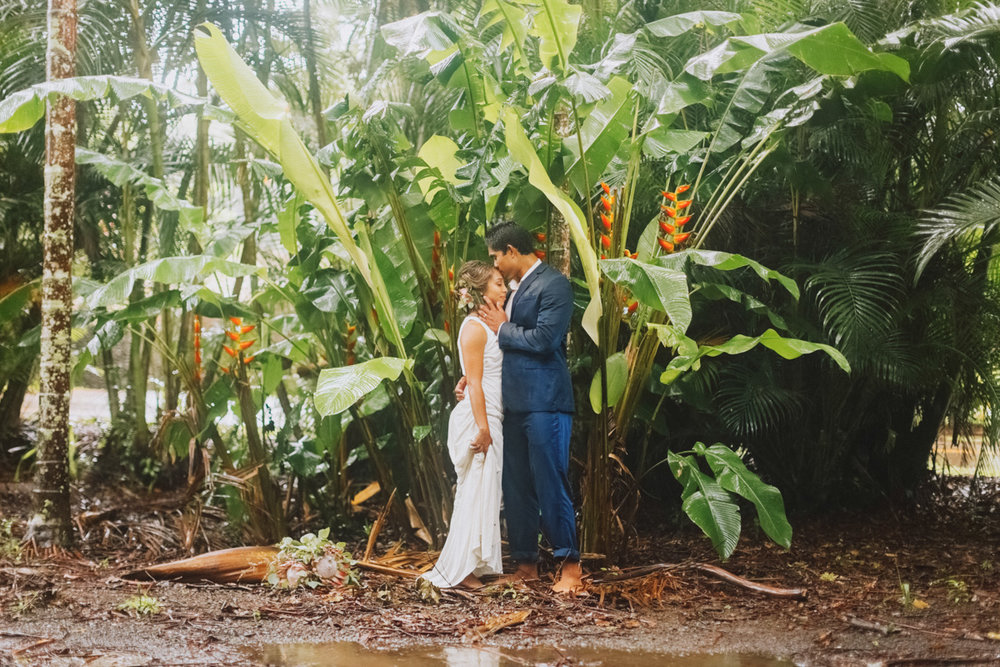 Rainy Haiku maui wedding