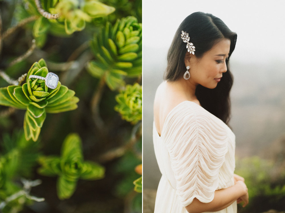 Haleakala Bride and greenery