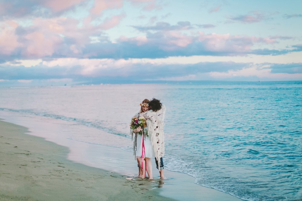 lovely bride and groom wedding bliss at maui sunset baby beach.jpg