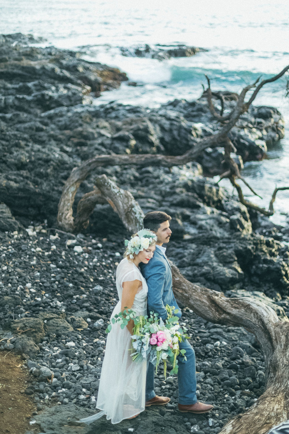 lovely maui beach wedding session wailea