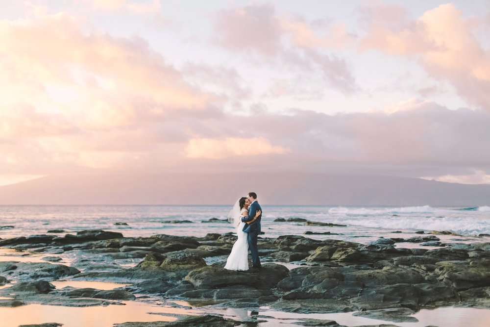 merriman's Kapalua wedding photography perfect for sunset view