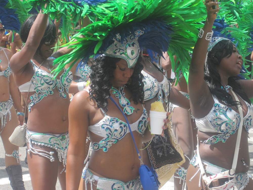 Masqueraders on Carnival Tuesday
