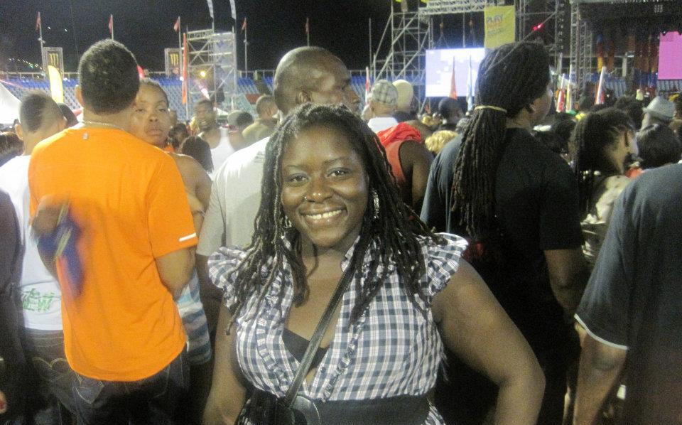 DysChick at Soca Monarch Finals in Trinidad