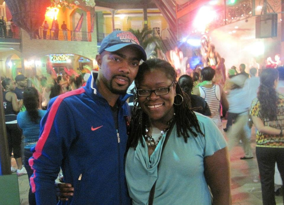 with Jason Williams (of JW & Blaze) at Movie Towne - Trinidad (February 2012)