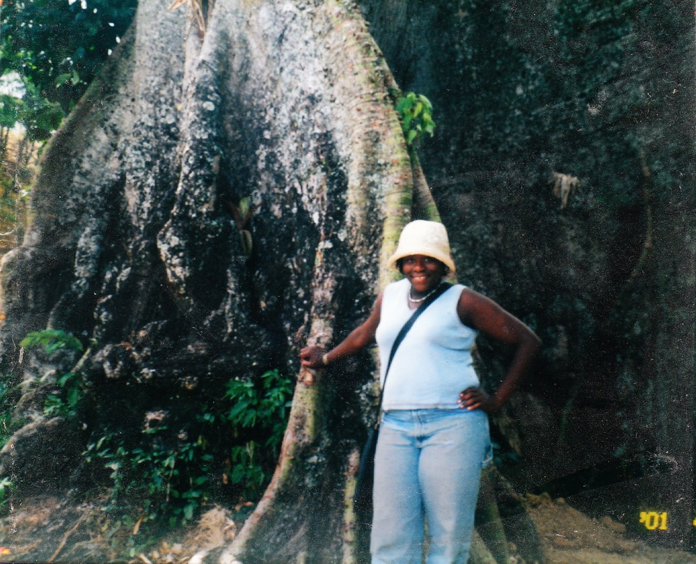 at the Tree of Gang Gang Sarah (Trinidad 2001)