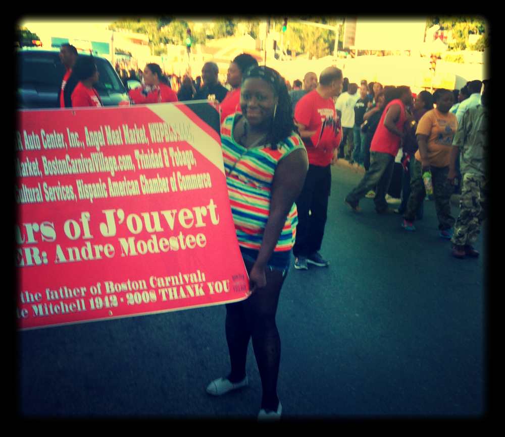How did I get to the front of the j'ouvert parade?