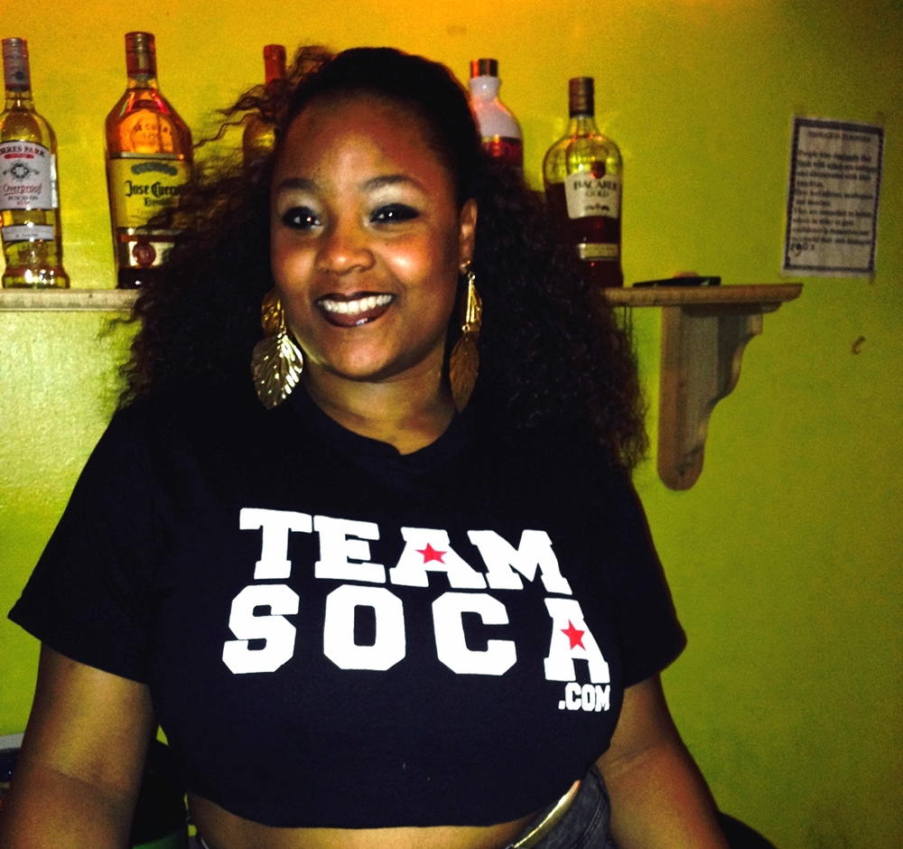 One of the nicest bartenders reppin'  Team Soca