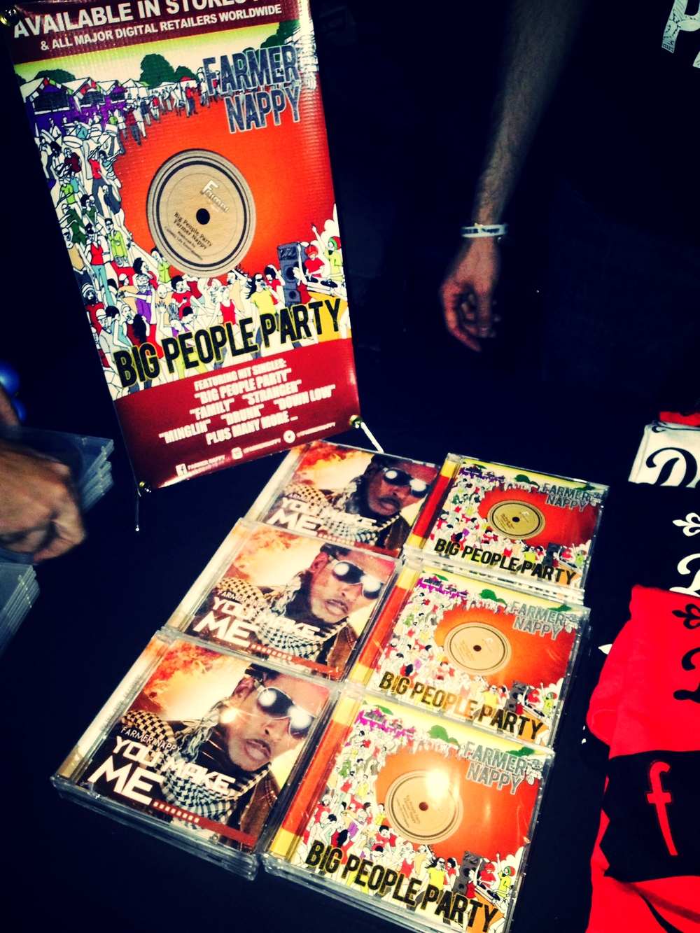 Farmer Nappy cds on sale at SOBs