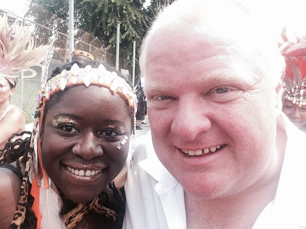 w/ former Toronto mayor Rob Ford