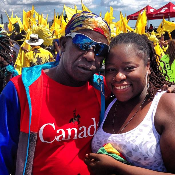 w/ soca legend Super Blue (Toronto 2013)