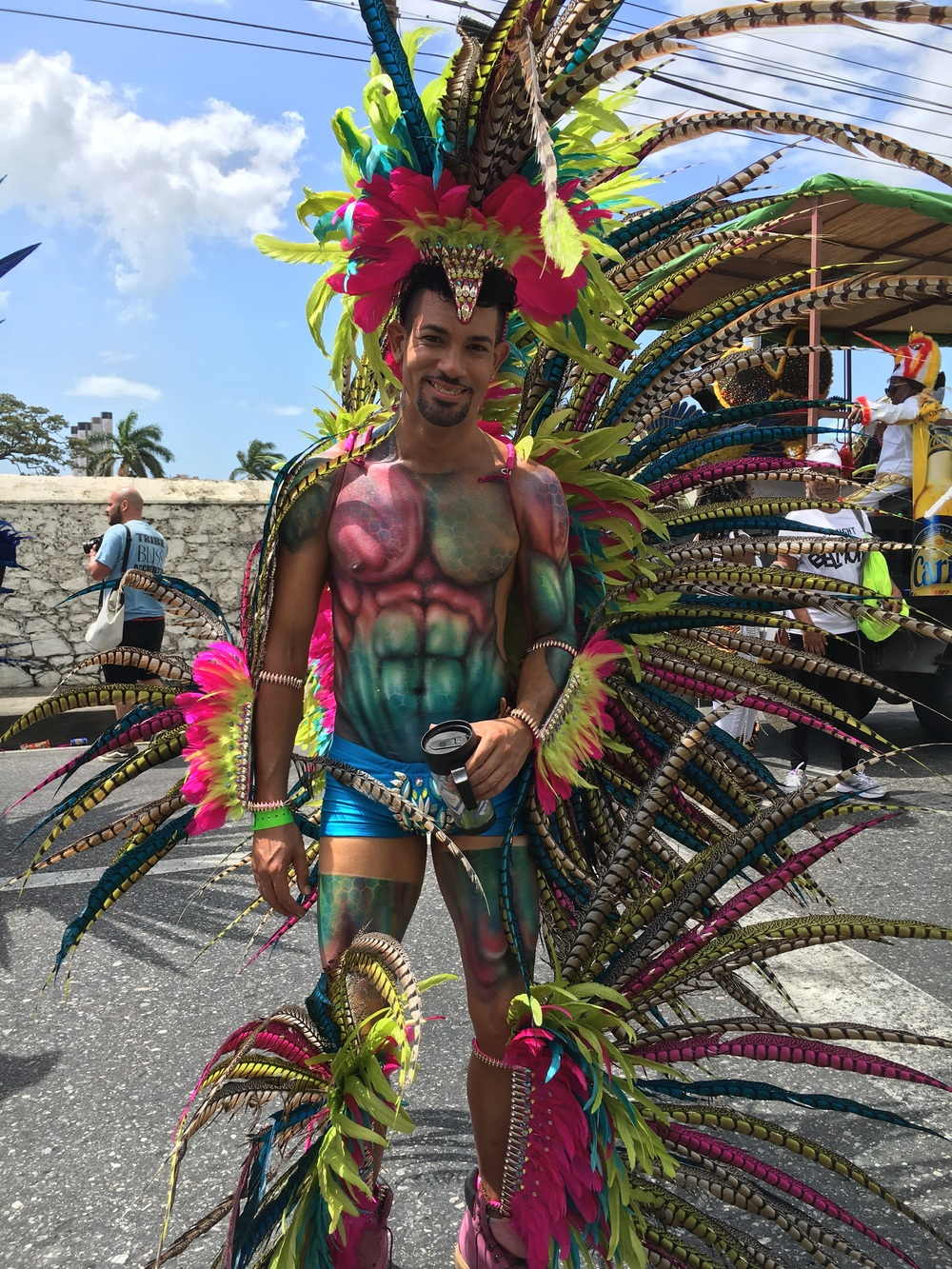 Male masquerader on Carnival Tuesday