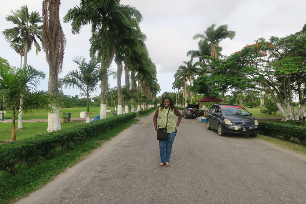 At the Botanical Gardens in Guyana