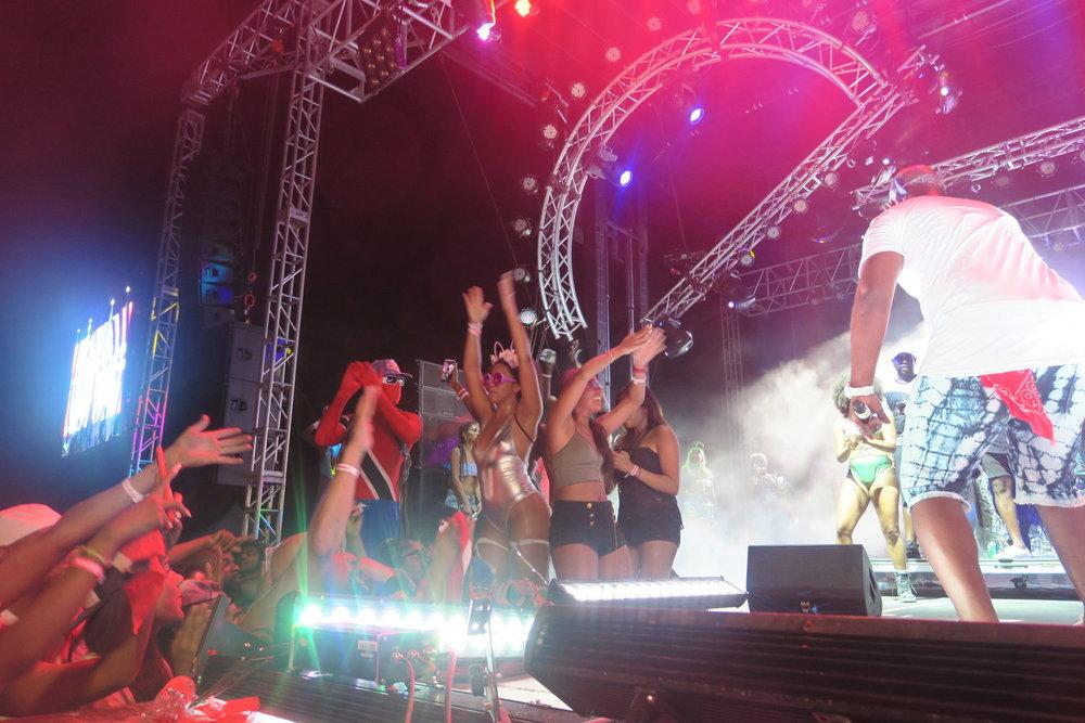 Bunji Garlin on stage at Electric Karnival