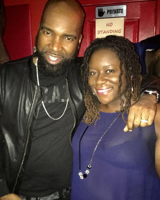 w/ legendary dancehall deejay Steelie Bashment (Brooklyn 2017)