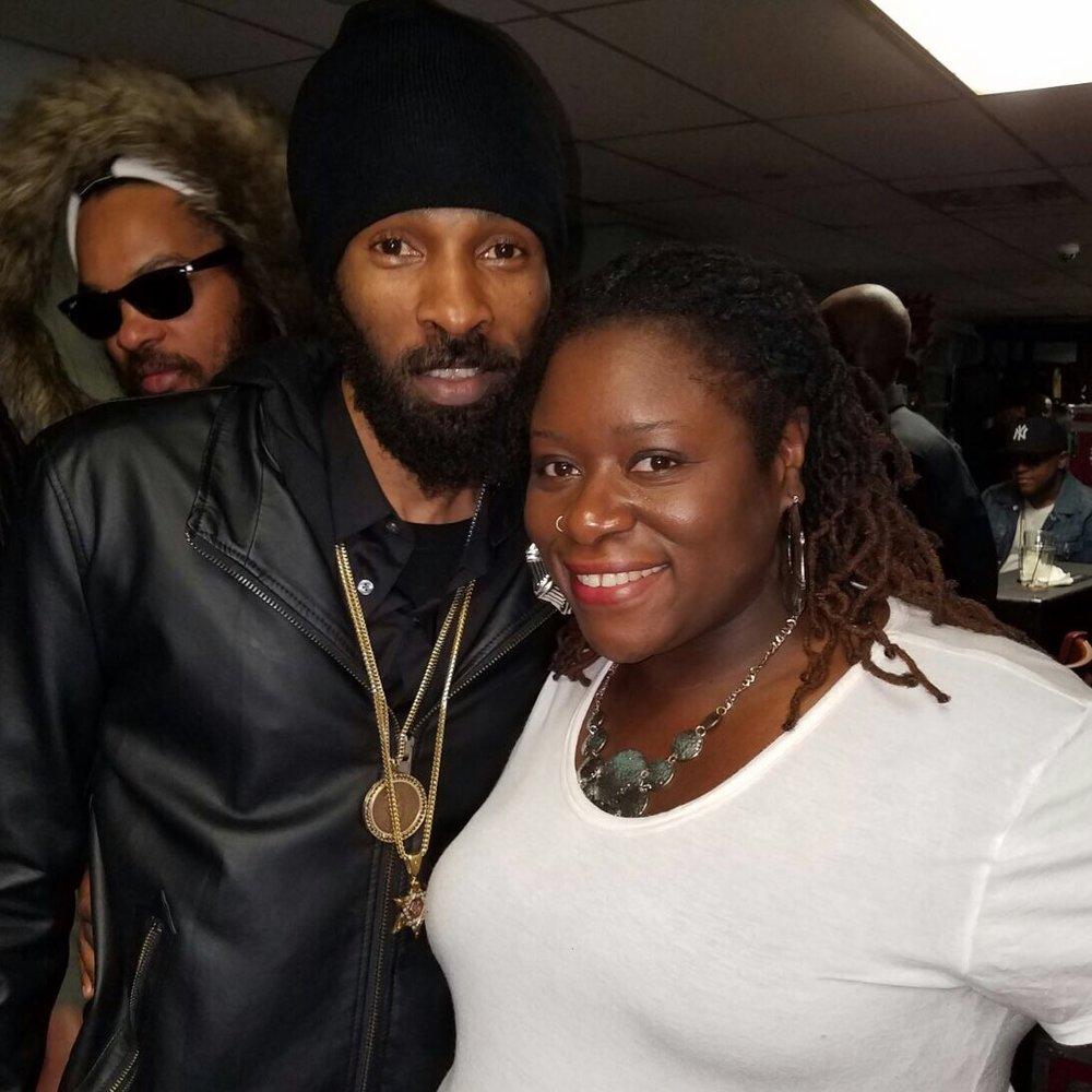w/ reggae artiste Sizzla (NYC 2017)