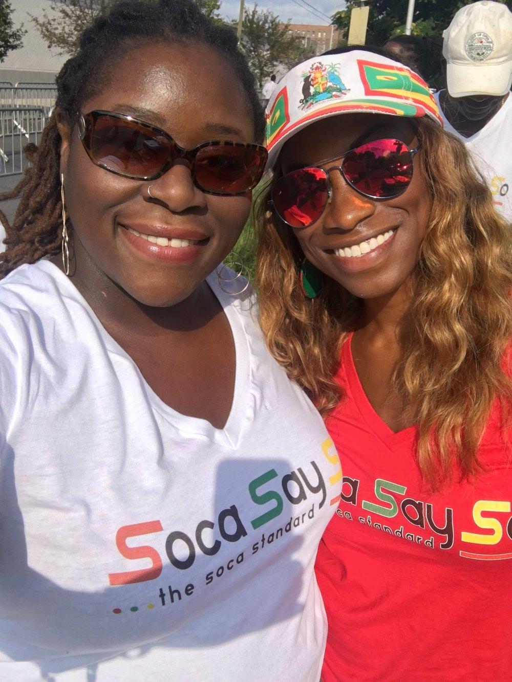 w/ fellow Blogger Chick SocaSaySo (Brooklyn 2017)