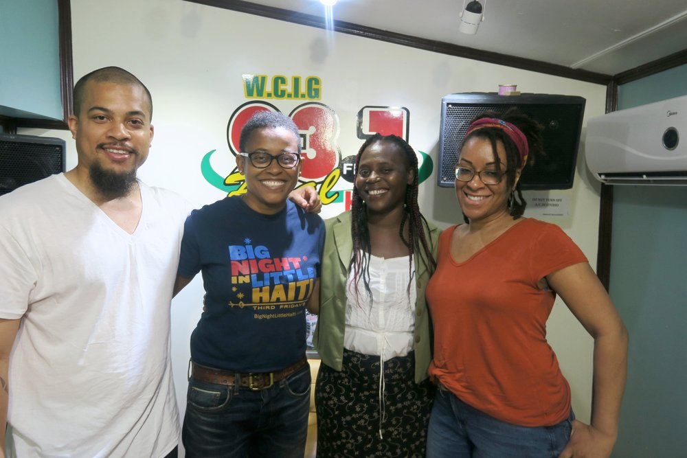 Timehri Film Festival crew at 93.1 in Guyana