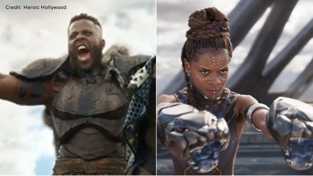 Winston Duke , Trinidad & Tobago and  Letitia Wright , Guyana
