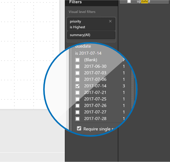 Add a simple duedate to filter specific dates