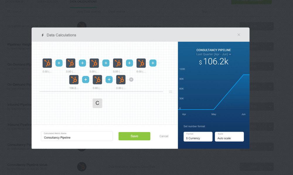 Calculated metrics with Databox