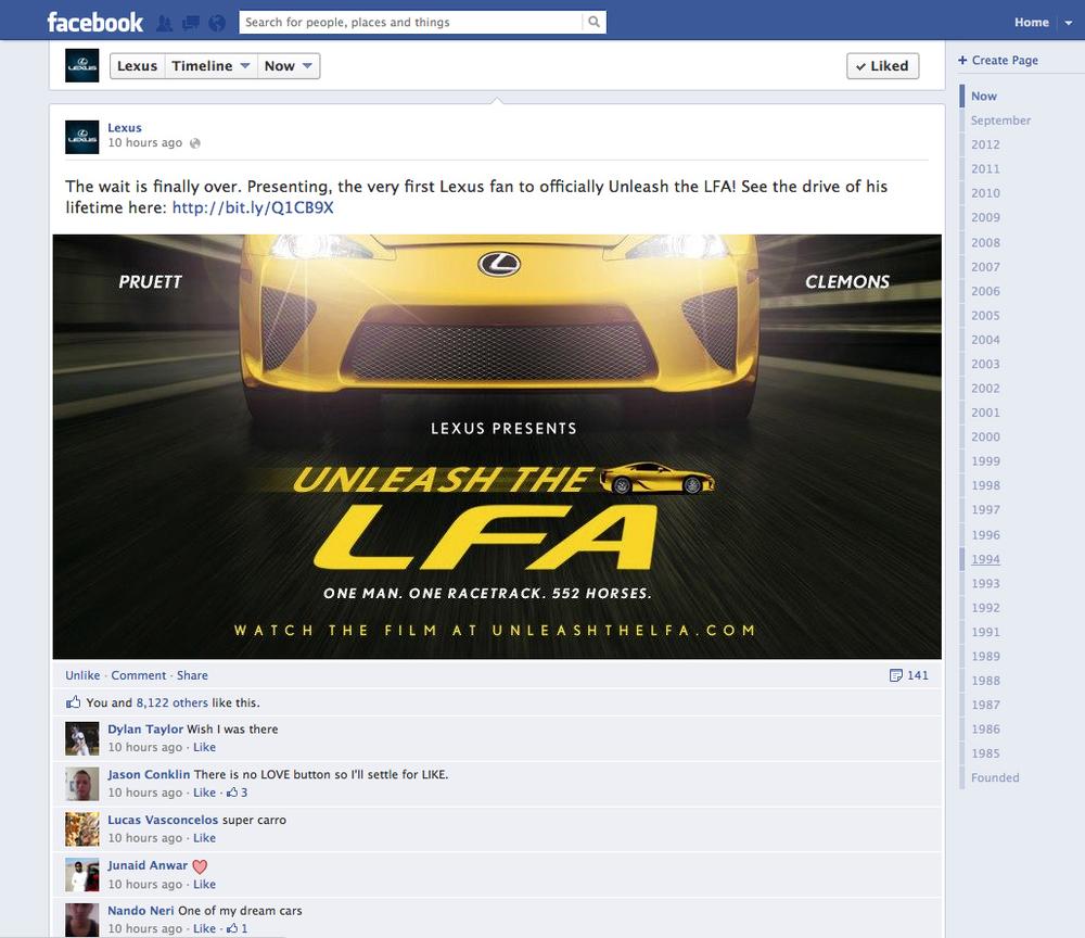 Facebook post  //// Steve Hanlon, art director; Phil Henson, copywriter; Alastair Green, creative director