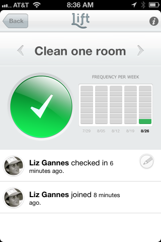 Lift Launches Incredibly Simple Personal Motivation App Liz Gannes, allthingsd.com If you had to break down motivation to its simplest bits, what would they be? According to the new iPhone app Lift, they are: setting goals, recording activity, getting support and seeing progress. That's all Lift users can do. It's…