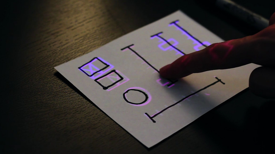 This Gizmo Lets You Draw A UI On Paper, Then Turns It Into A Touch Screen   By Mark Wilson,  fastcodesign.com    You'll just have to watch the video to appreciate the amazing possibilities of the SketchSynth, created by Billy Keyes.  You know those huge mul­ti­chan­nel mixers—the mas­sive boards that audio engi­neers man­age dur­ing con­certs to con­trol…     Really cool