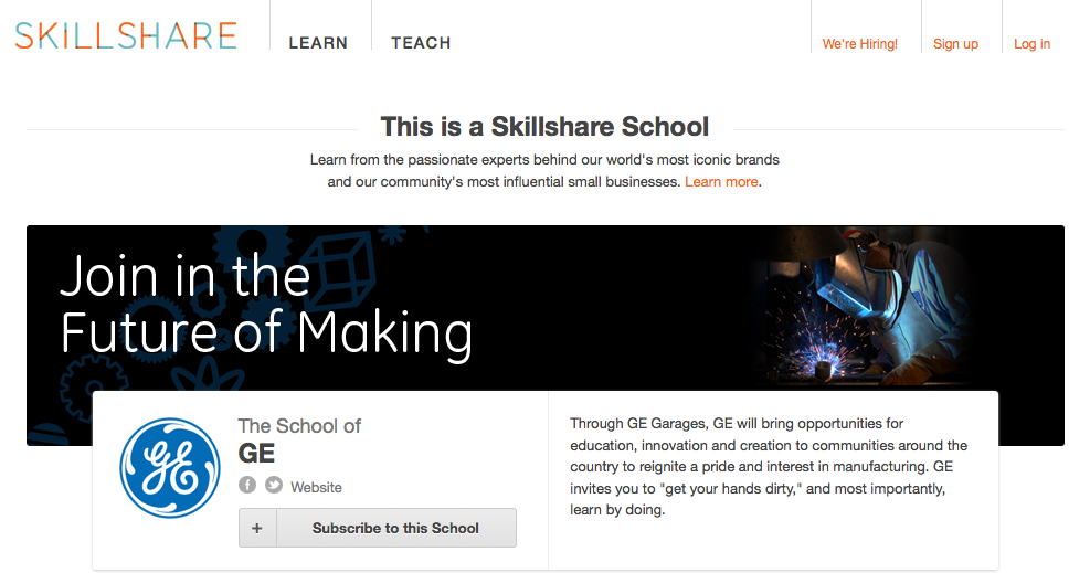 Skillshare Launches 'Schools' for Brands   March 11, 2012by Sarah Kessler 0,  mashable.com    Whether they're teach­ing class­es about authen­tic Moroc­can  tagine  cook­ing or how to live rent-free in New York City, peer-to-peer learn­ing start­up Skill­share lets its users mar­ket their class­es online.  Now it also wants to be a…