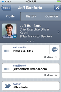 Xobni Brings Contact Manager Smartr To The iPhone   Leena Rao,  techcrunch.com    As we report­ed last Sep­tem­ber, Xobni rebrand­ed its email con­tact man­ag­er Smartr and launched Android and Gmail apps out of pri­vate beta. Today, Xobni is debut­ing the iPhone ver­sion of Smartr.  The Smartr Cloud auto­mat­i­cal­ly extracts…