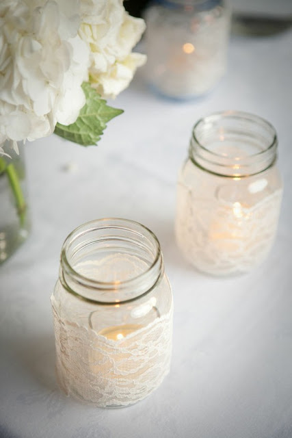 DIY lace wrapped mason jar votive holders.jpg