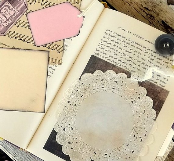 Inside old book