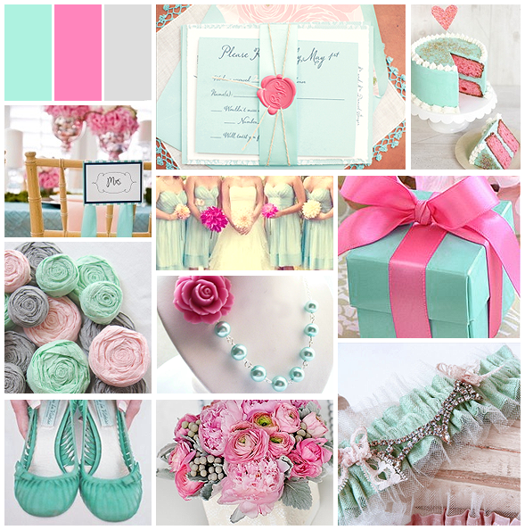 Mint, Pink and Grey - Lovely