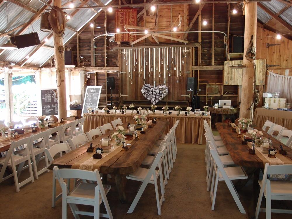 Inside the beauitful barn.