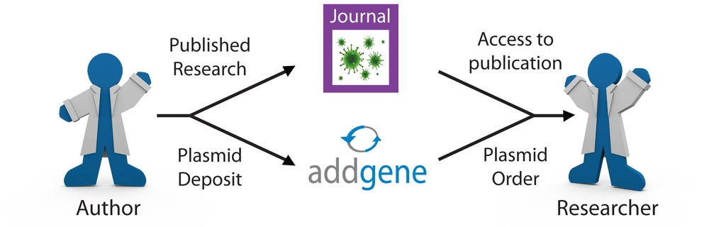 Share research materials and knowledge via Addgene