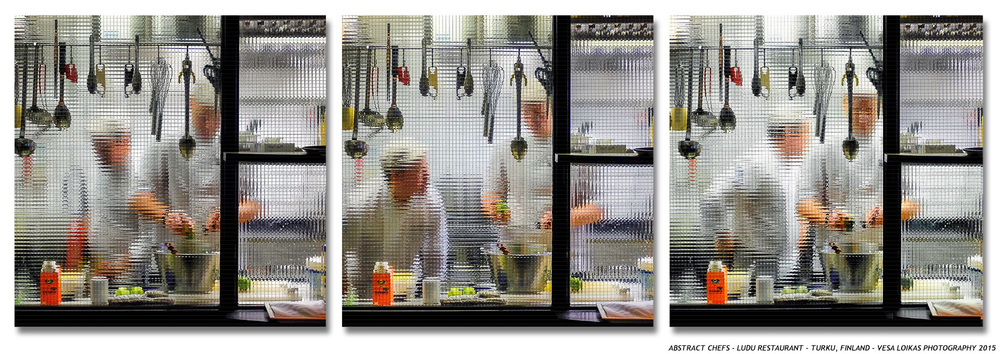CHEFS IN ACTION triptych Ludu restaurant, Turku, Finland - March 11th, 2015
