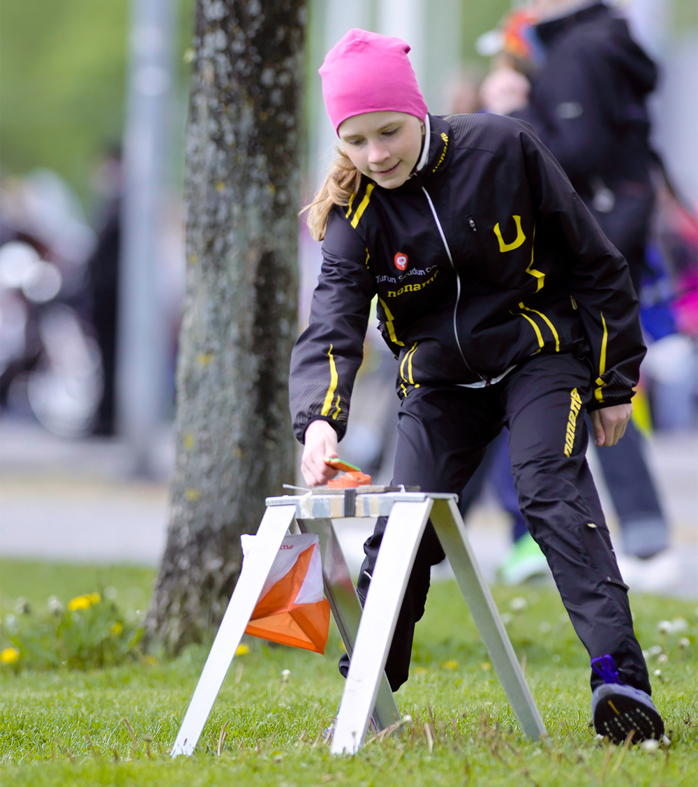 My daughter Alina at the Jukola relay orienteeringpromo event. Forum Marinum, Turku, Finland | 31st 0f May 2015.
