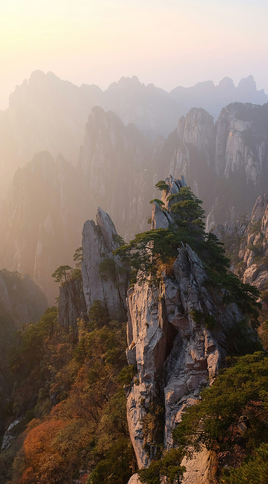 West Sea Grand Canyon | Yellow Mountains, Huangshan, China   | October 20, 2014