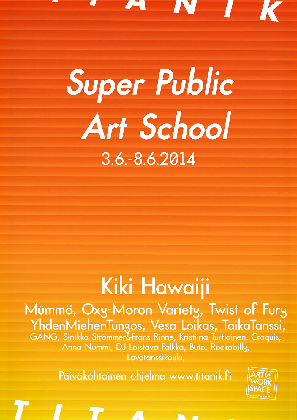 TITANIK Gallery Exhibit Poster 2014