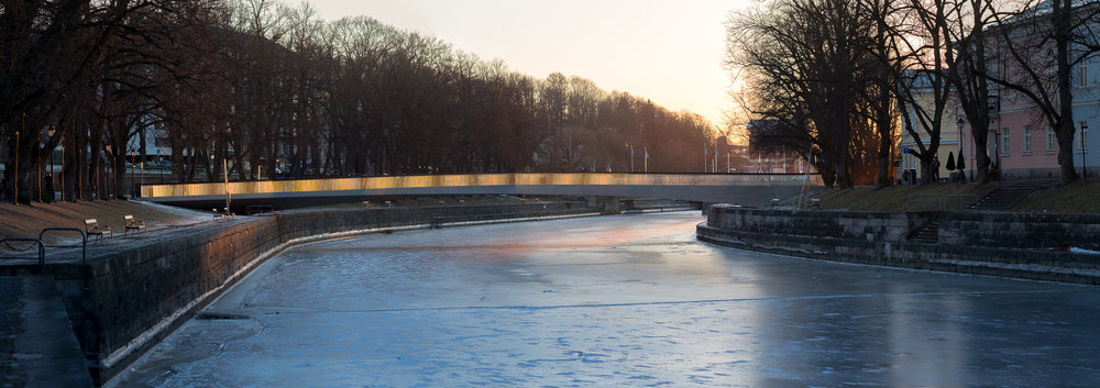The Library Bridge 4pm, February 2017 | Turku, Finland    Explore my 93 megapixel Library Bridge photo - click this link and you can zoom in and see how many people there are on the bridge during Turku rush hour!